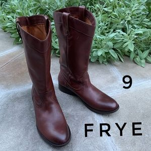 Frye Pull on Melissa Leather Western Style Boots